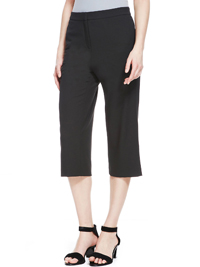 4utograph BLACK Crêpe Cropped Trousers - Size 10 to 14