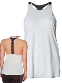 M&5 Silver Grey Active Racer Back Elastic Vest by ROS1E - Size 8 to 18