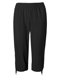 M&5 BLACK Pull On Cropped Joggers - Size 6 to 16