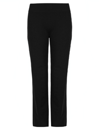 M&5 BLACK Cotton Rich Straight Leg Joggers - Size 6 to 22