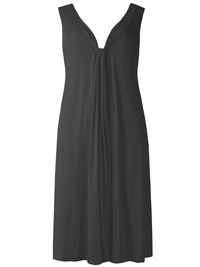 M&5 BLACK Cool Comfort V-Neck Jersey Sun Dress - Size 6 to 22