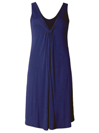 M&5 NAVY Cool Comfort V-Neck Jersey Sun Dress - Size 6 to 22