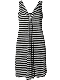 M&5 BLACK Essential Striped Shift Beach Dress - Size 8 to 22