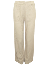 M&5 CAMEL Linen Blend Wide Leg Trousers - Size 8 to 22