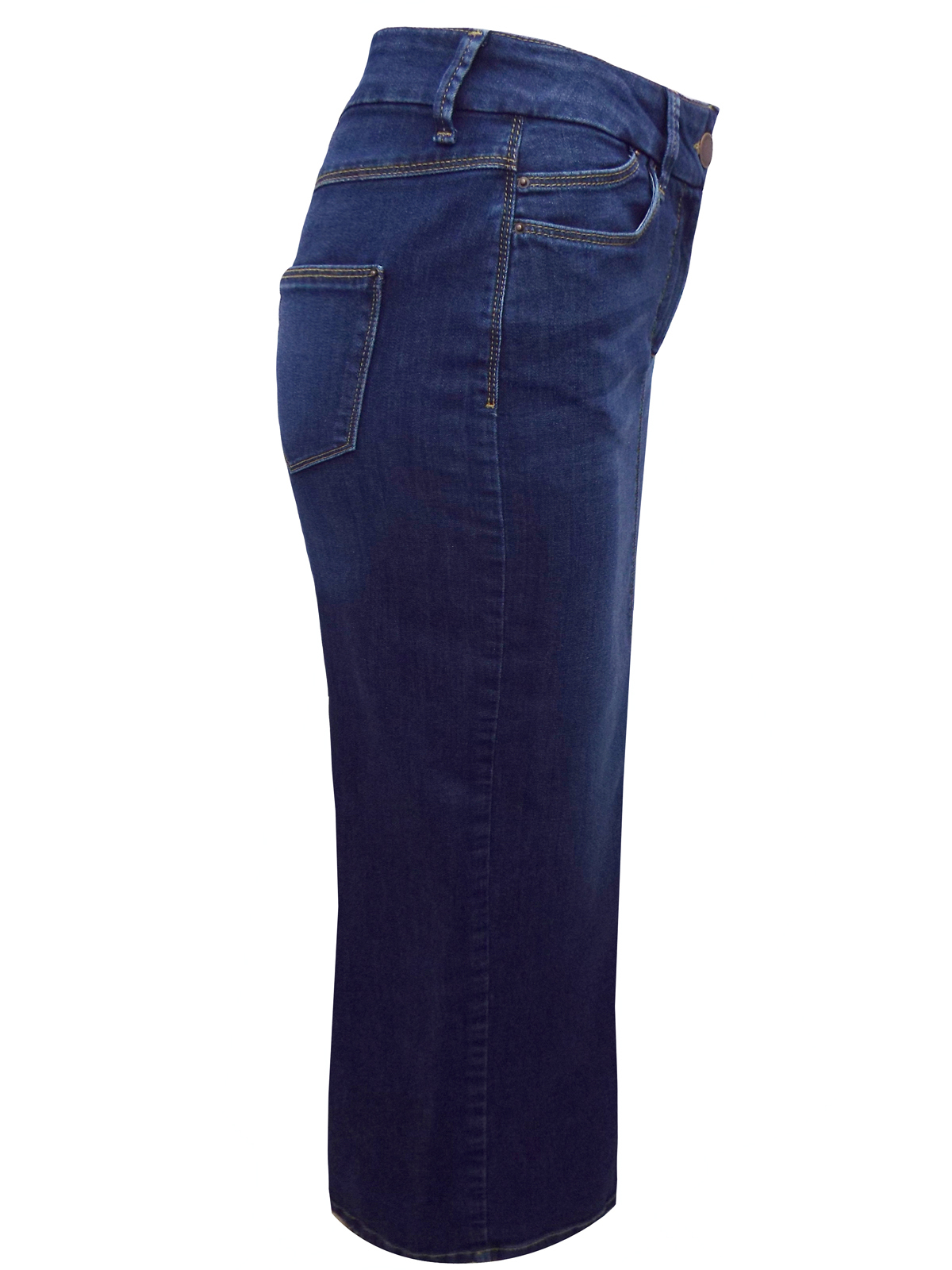 marks and spencer m 5 navy cotton rich denim