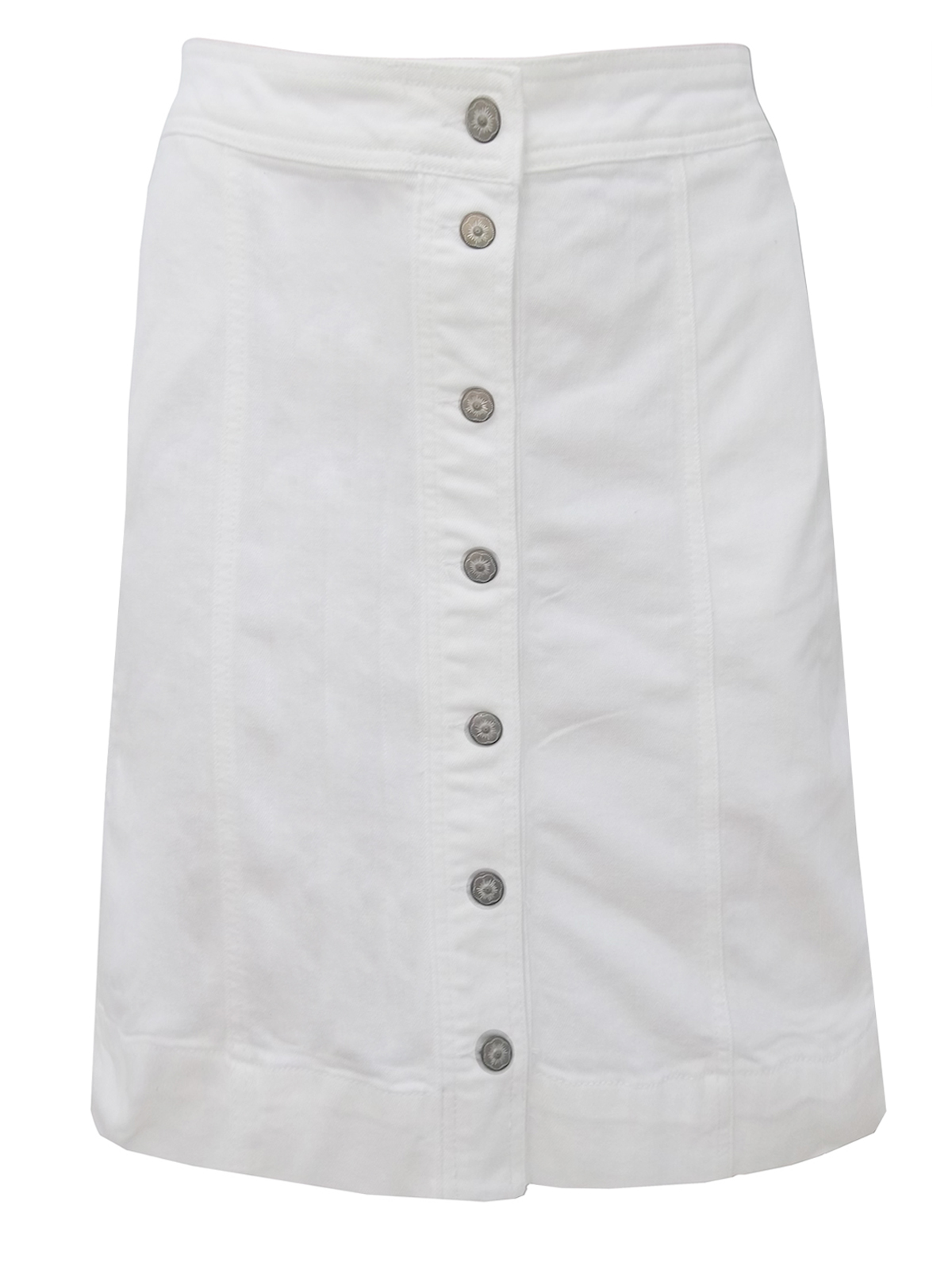 300087bf14 Marks and Spencer - - M&5 WHITE Button Through Denim Skirt - Size 20 to 22
