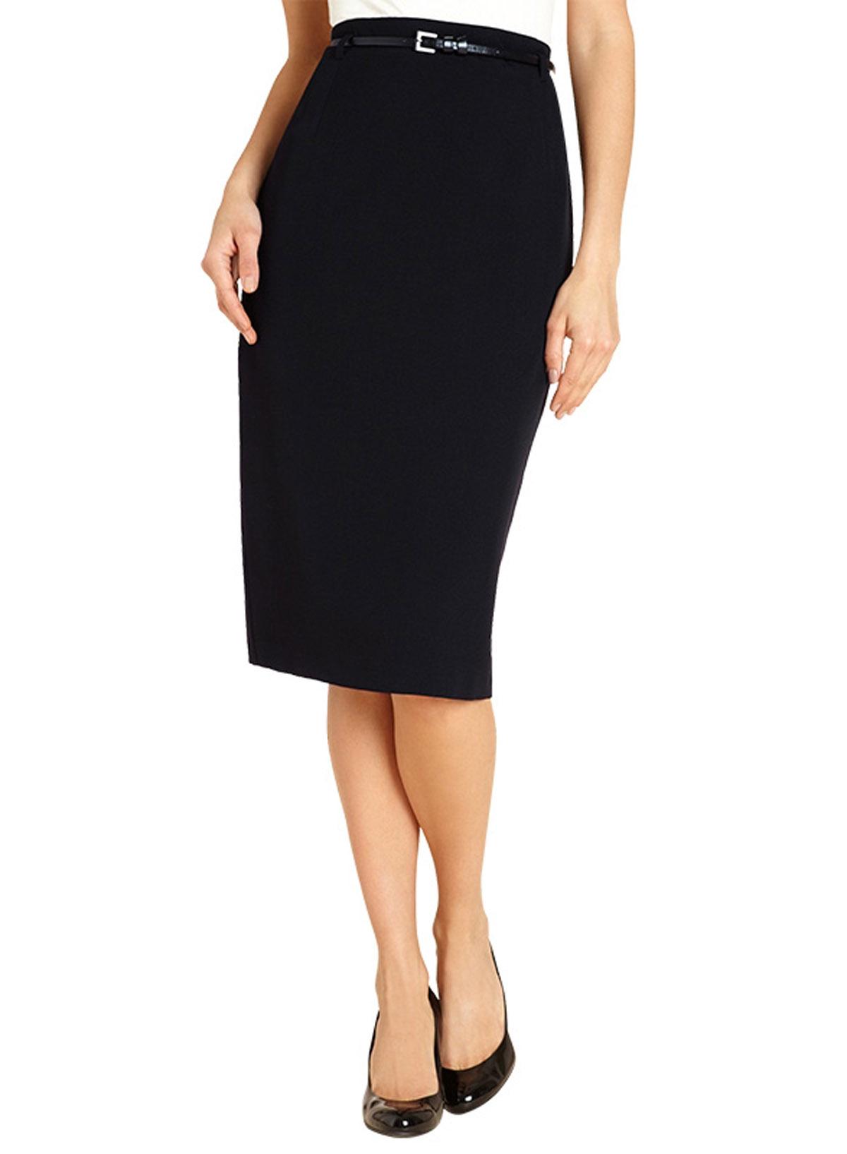 marks and spencer m 5 black belted pencil skirt size