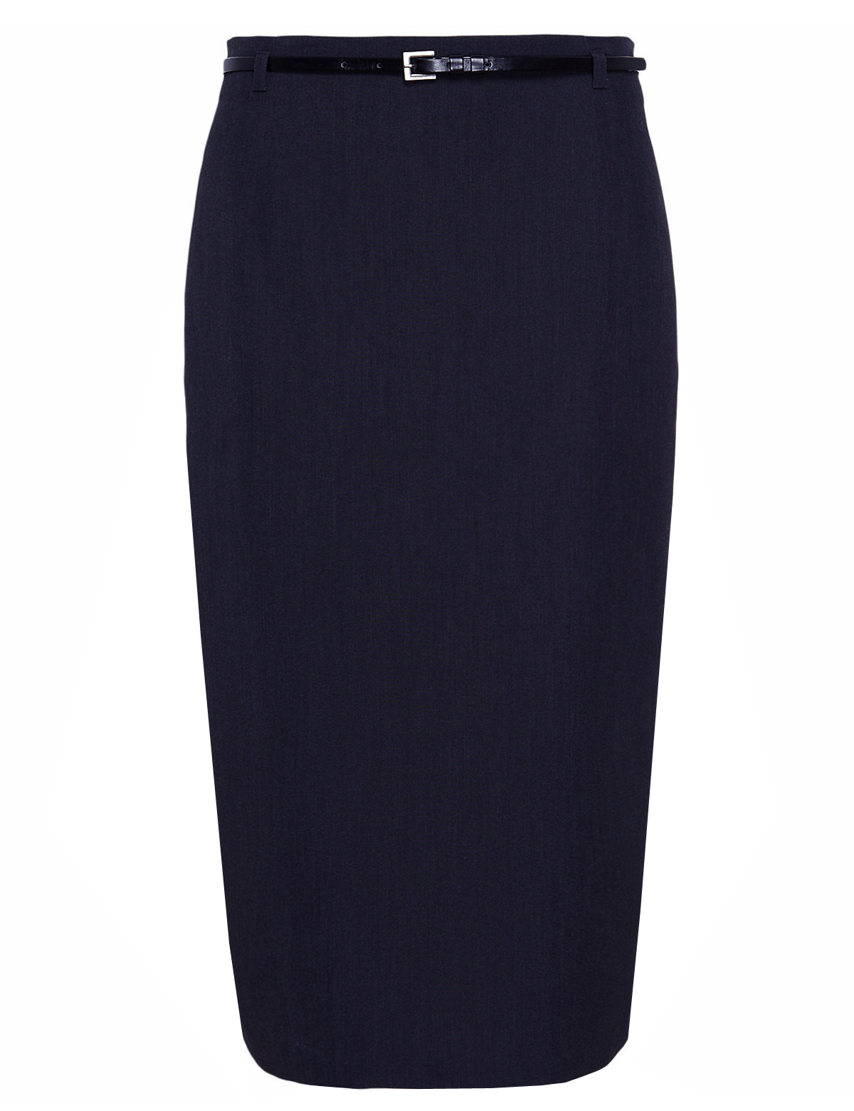 marks and spencer m 5 navy belted pencil skirt size 14
