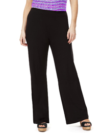 M&5 BLACK Concealled Waistband Wide Leg Trousers - Size 8 to 20