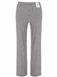 M&5 NEUTRAL Mini Geometric Palazzo Trousers - Size 10 to 18