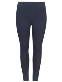 M&5 NAVY Cotton Rich Full Length Leggings - Plus Size 18 to 24