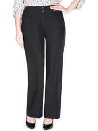M&5 BLACK Linen Blend Straight Leg Trousers - Size 10 to 28