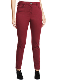 M&5 CRANBERRY Ankle Zipped Denim Jeggings - Size 12