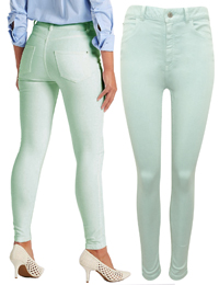 M&5 SPEARMINT Mid Rise Super Skinny Jeans - Size 12