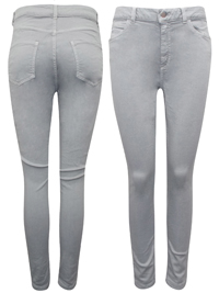 M&5 LIGHT-GREY High Waisted Skinny Jeans - Size 10 to 16