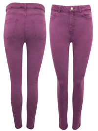 M&5 PLUM High Waisted Skinny Jeans - Size 10 to 18