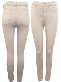 M&5 SAND High Waisted Skinny Jeans - Size 8 to 18