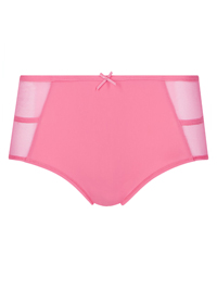 M&5 HOT-PINK Strapping & Mesh Panel Midi Knickers - Size 10 to 20