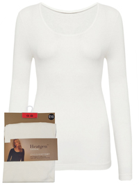 M&5 LIGHT-CREAM Heatgen Thermal Long Sleeve Top - Size 14 to 18