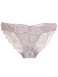 M&5 PRALINE Rio Sweetheart All Over Lace Low Rise Bikini Knickers - Size 16