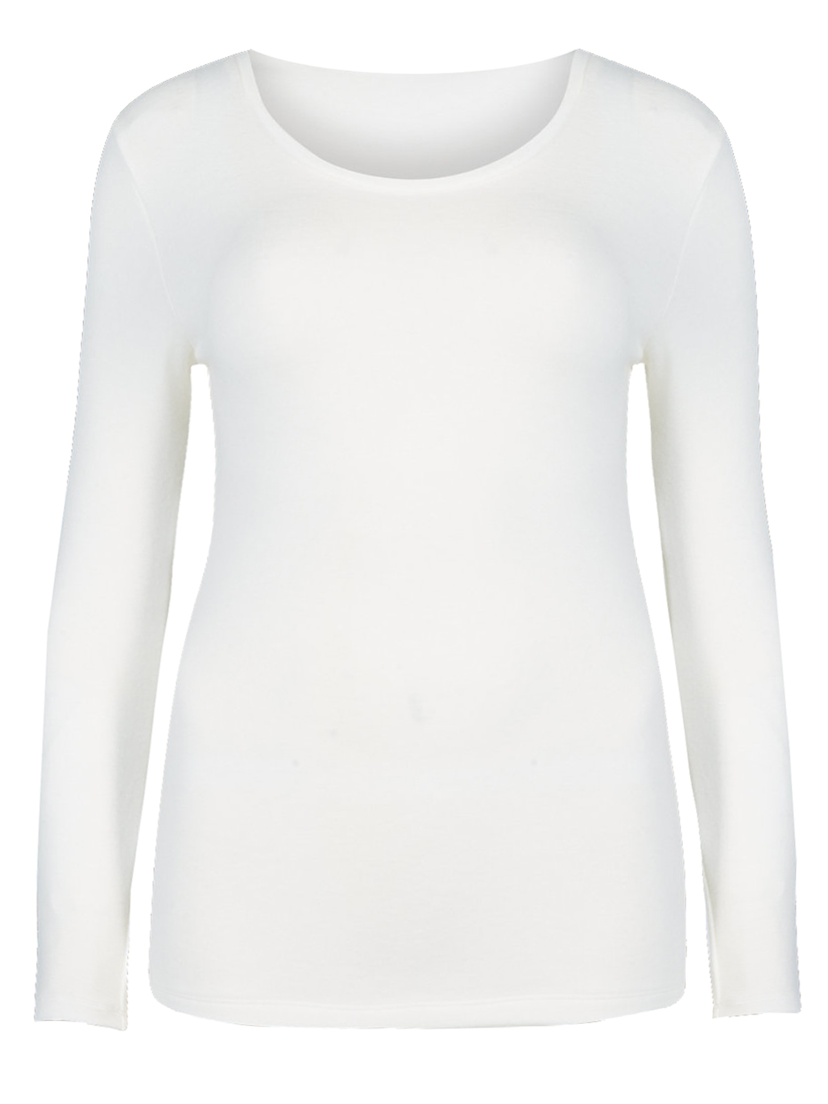 M&5 CREAM Brushed Heatgen Thermal Long Sleeve Top - Size 6 to 22