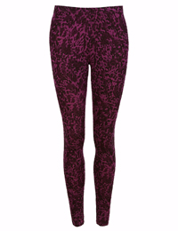 M&5 BURGUNDY Heatgen Thermal Printed Leggings - Size 8 to 22