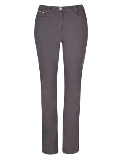 P3rUna GRAPHITE Roma Rise Soft Touch Slim Bootcut Trousers - Size 8 to 16