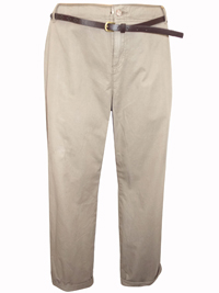 M&5 SABLE Pure Cotton Belted Chinos - Size 8 to 22