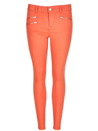 M&5 ORANGE Front Zipped Pocket Supersoft Skinny Jeans - Size 8 to 18