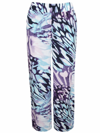 M&5 Tw1ggy BLACK Abstract Print Wide Leg Trousers - Size 10 to 16