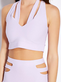 M1ss S3lfridge LILAC Textured Double Strap Crop Top - Size 6 to 10