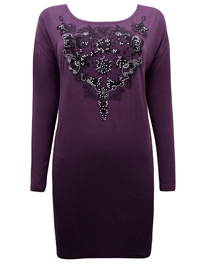 PLUM Placement Lace Print Studded Tunic - Size 10/12 to 22/24