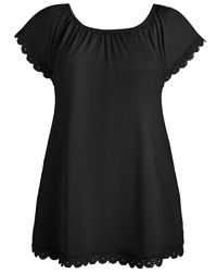 Anthology BLACK Gypsy Jersey Top - Plus Size 12 to 22
