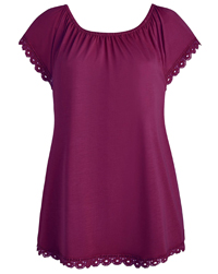 Anthology PLUM Gypsy Jersey Top - Plus Size 24 to 28