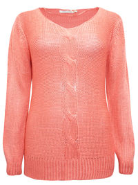 HappyHolly CORAL Long Sleeve Jumper - Size 10/12 to 18/20 (EU 36/38 to 44/46)