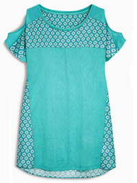 N3xt JADE Printed Panel Cold Shoulder Top - Size 6 to 22
