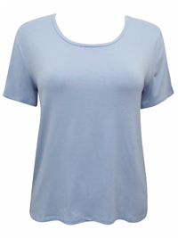 PALE-BLUE Short Sleeve Jersey Tee - Size XSmall to XXLarge