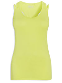 N3xt YELLOW Racer Back Double Strap Sports Vest - Size 8 to 22