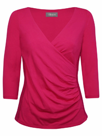 Al3xon PINK Wrap Over Lace Top - UK Size 12 to 16 (Small to Large)