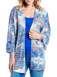 Anthology BLUE Printed Kimono - Plus Size 12 to 32