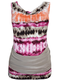Sarah Chole PINK Tie Dye Open Back Top - Size 8 to 10 (Small to Medium)