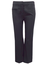 Uno Uomo Smart BLACK Regular Fit Straight Leg Trousers - Size 12 to 18