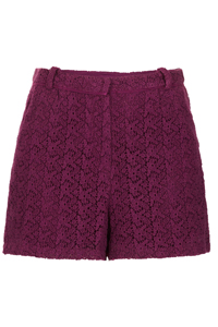 T0PSH0P WINE Crochet Lace Shorts - Size 6 to 16