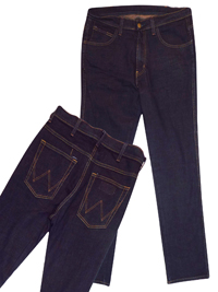 GRADED DARK-INDIGO Pure Cotton Straight Fit Denim Jeans - Waist Size 32 (Length 34in)
