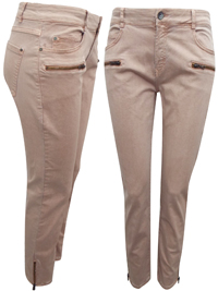 M4ngo BLUSH Cotton Rich Zipper Skinny Fit Jeans - Size 6 to 16