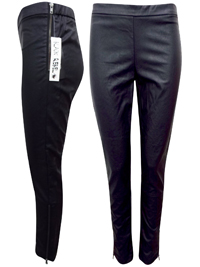 Black Rebel BLACK Faux Leather Treggings - Size 8 to 20 (EU 34 to 46)