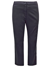 BLACK Straight Leg Coated Jeans Trousers - Size 22 to 30 (EU 50 to 58)