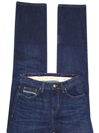 M&5 INDIGO Pure Cotton Straight Leg Denim Jeans - Waist Size 30 to 40 (Length 32in-34in)