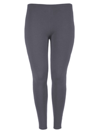 KIABI GREY Full Length COTTON Elastane Leggings - Plus Size 16/18 to 28/30 (EU 46/48 to 58/60)