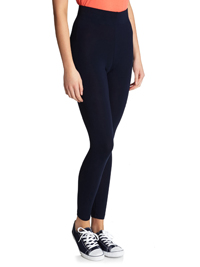 Dunn3s NAVY Pull On Jersey Leggings - Size Small to XLarge